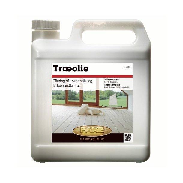 FAXE Træolie hvid 2,5. ltr.