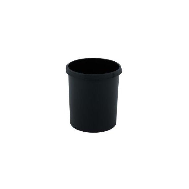 Affaldsspand, rund, mulighed for kildesortering, sort, 30 l