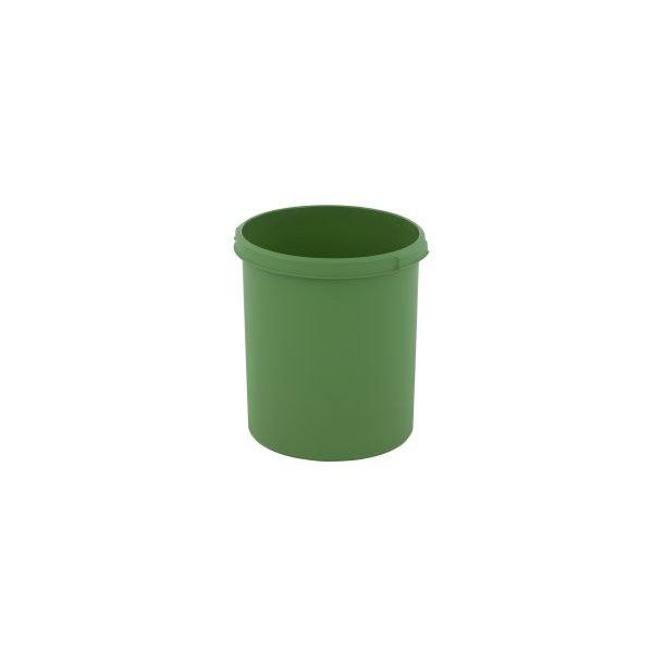 Affaldsspand, rund, mulighed for kildesortering, grøn, 30 l