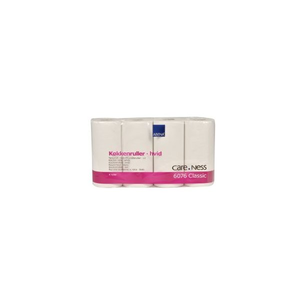 Køkkenrulle, Care-Ness Classic, 2-lags, hvid, 21,20 cm x 18 m, 72 ark