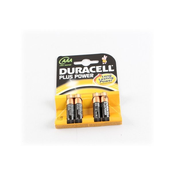 Duracell Batteri, Plus Power, AAA, 4 stk