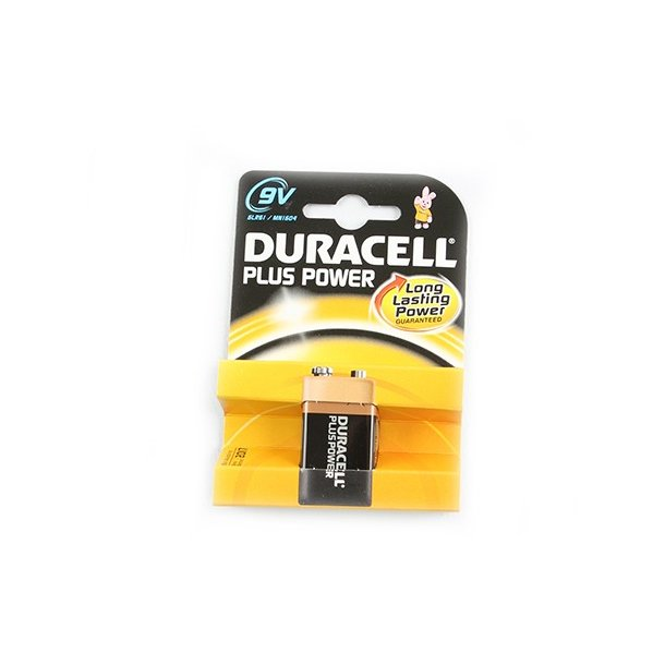 Duracell Batteri, Plus Power, 9V, 1 stk.