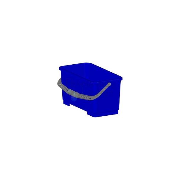 Blå aflang spand
